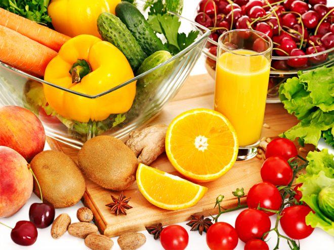 нужно есть фрукты и овощи