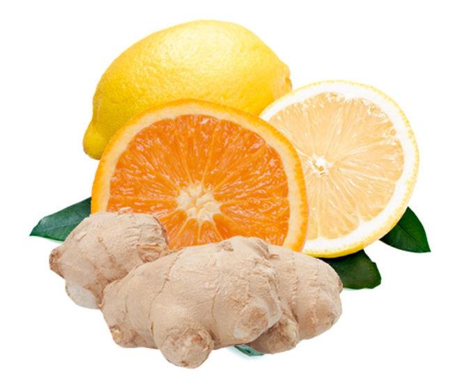 имбирь с лимоном и апельсином