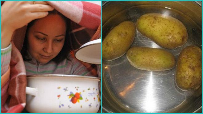 Ингаляции над картошкой