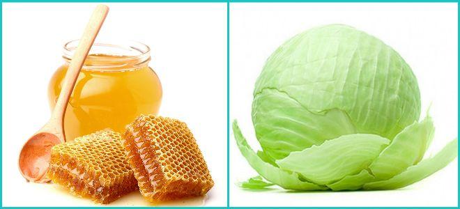 Лист капусты с мёдом