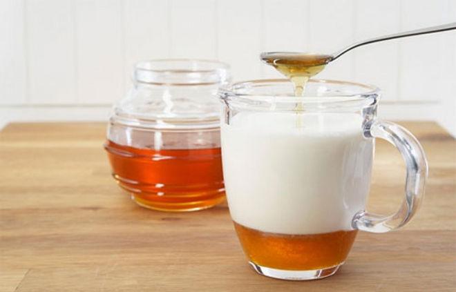 молоко и мёд от кашля