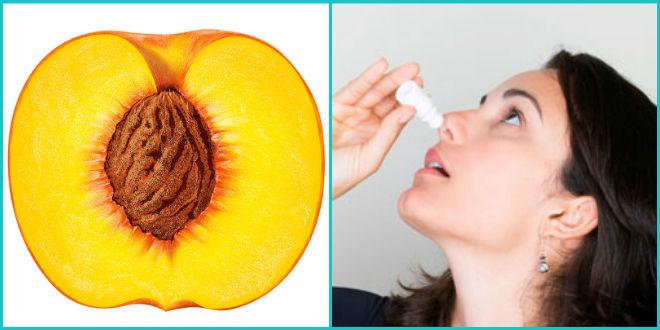 Персиковые капли в нос