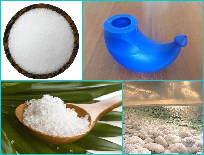 Полоскание морской солью