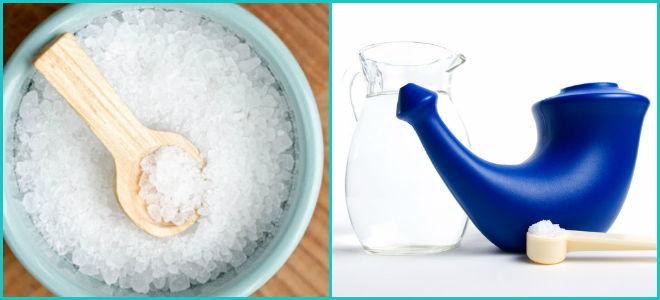 Как сделать раствор из морской соли для промывания носа ребенку