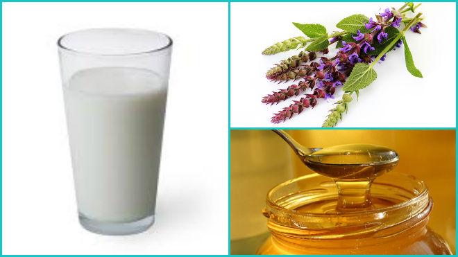 Сода и мёд с шалфеем