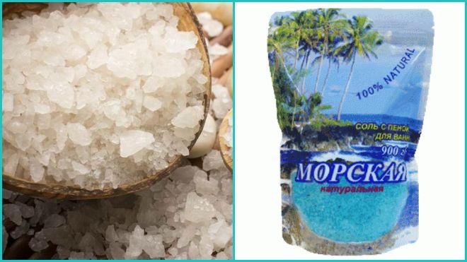 Раствор из морской соли в домашних условиях