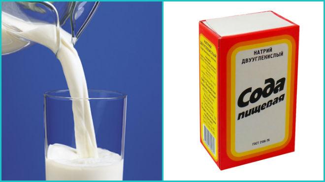 Стакан молока с содой