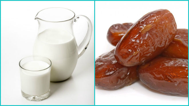Финики с молоком