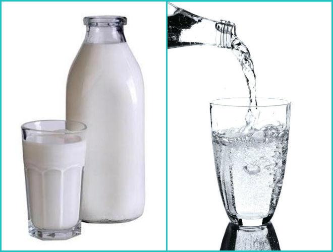 Минералка с молоком