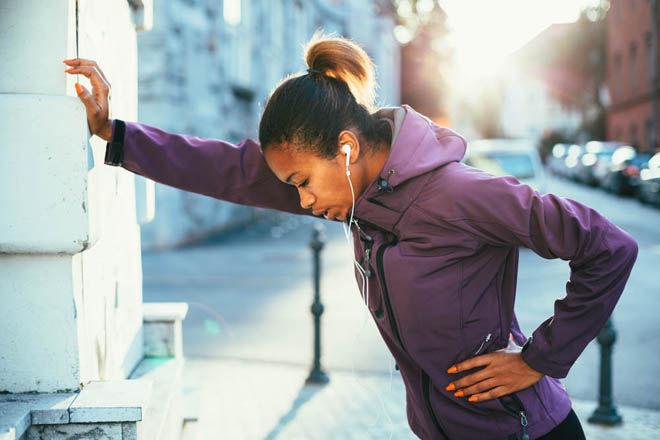 Во время бега начинается кашель