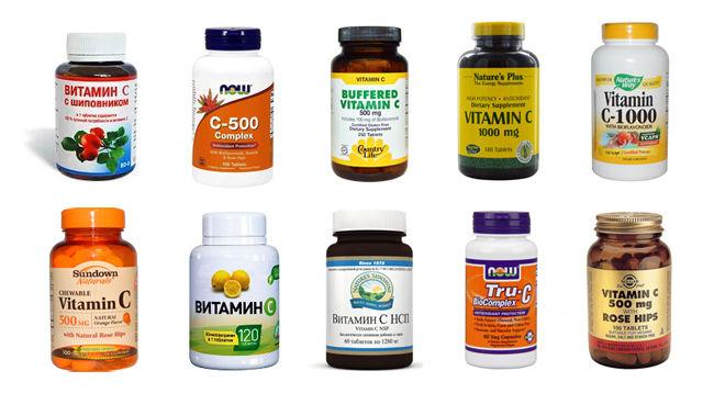 Виды витаминов с