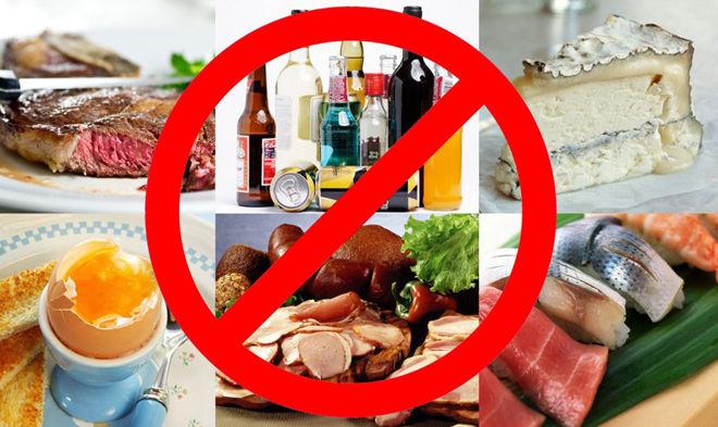 Не рекомендуется есть жирную и соленую пищу
