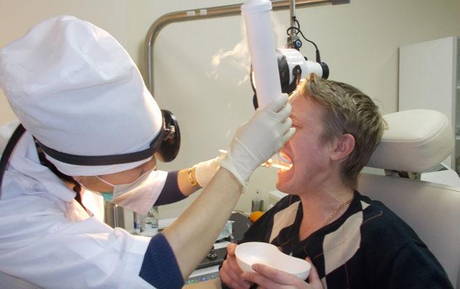 Небные миндалины: криотерапия