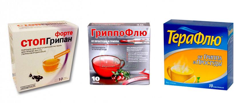 Комбинированные лекарства от гриппа
