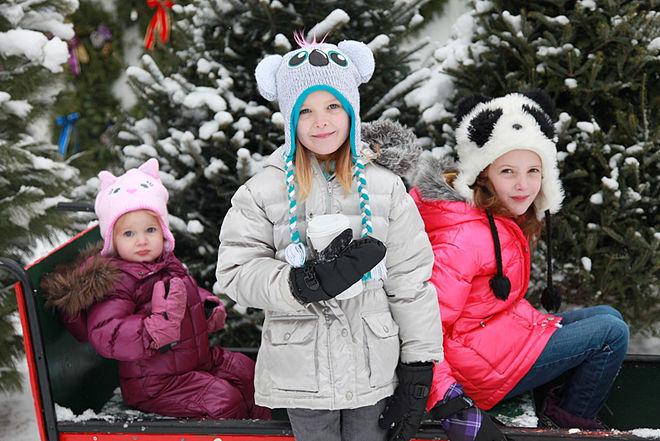 дети на улице зимой