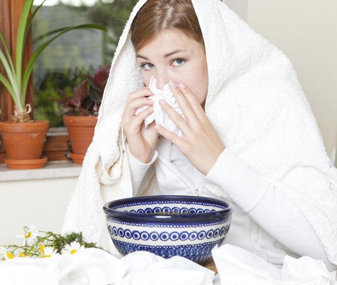 лечение насморка народным методом