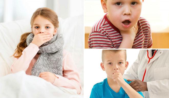 У детей кашель