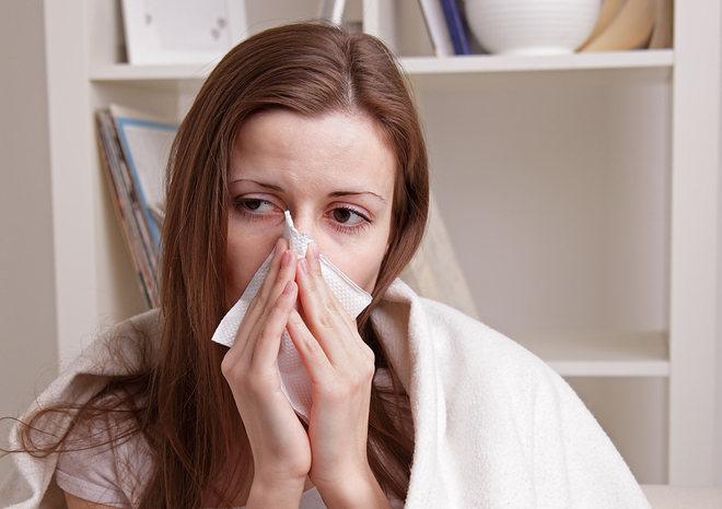 При простуде насморк