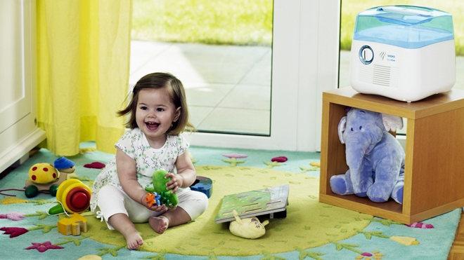 Увлажнение комнаты ребенку