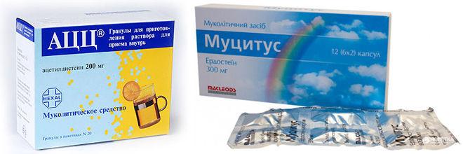 Муколитические лекарства
