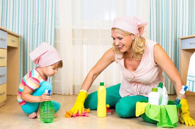 В детской комнате должно быть чисто