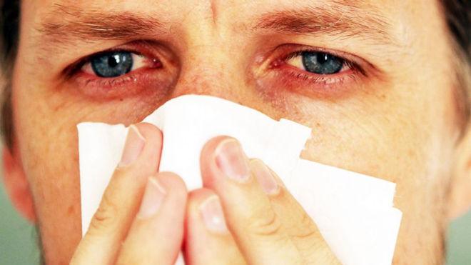 Аллергическая реакция в виде соплей
