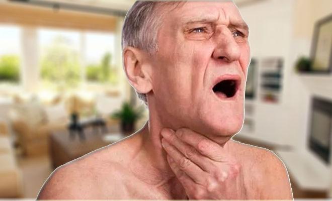 Человек задыхается