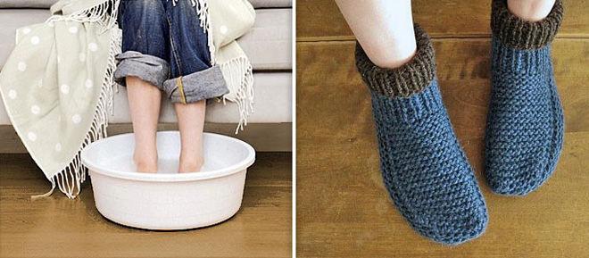 Ноги прогреваем для лечения соплей