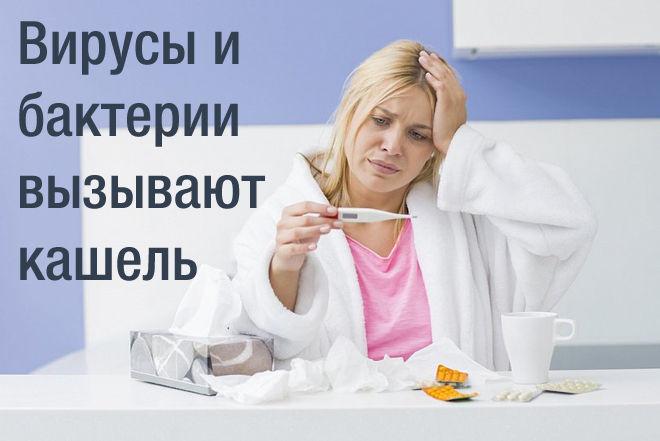 Бактерии и вирусы - причина першения