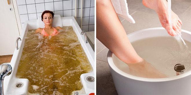 Можно принимать ванну или греть ноги в горчице