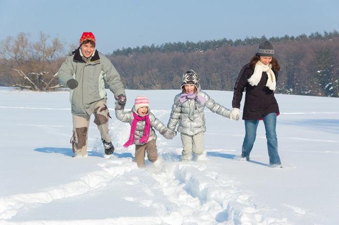 Зимнее снежное гуляние