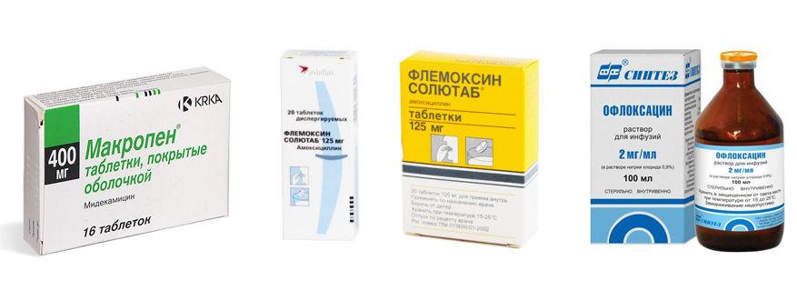 Флемоксин Макропен Офлоксацин