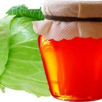 Устранение кашля капустным листом и медом