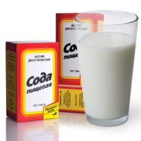 Эффективное лечение простуды молоком с содой