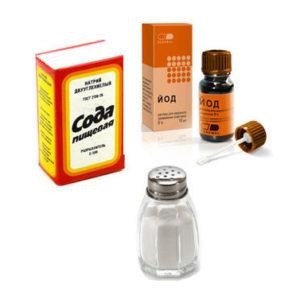 Солевой раствор с содой и йодом для лечения горла