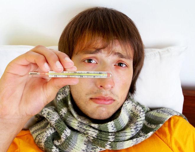 Температура во время гриппа