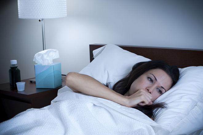 Начинается кашель в постели