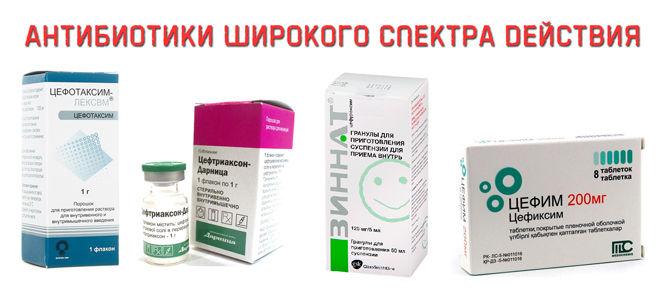 Антибиотики расширенного действия